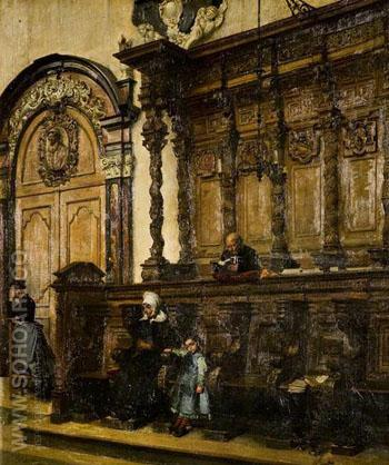 Church Interior - William Logsdail reproduction oil painting