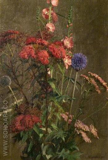 Garden Flowers - William Logsdail reproduction oil painting