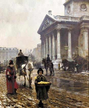 St Martins in the Fields B - William Logsdail reproduction oil painting