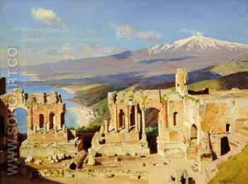 The Greek Theatre Taormina Sicily - William Logsdail reproduction oil painting