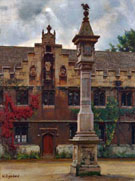 View of the Front Quad - William Logsdail reproduction oil painting