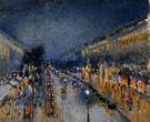 The Boulevard Montmartre at Night 1897 - Camille Pissarro reproduction oil painting