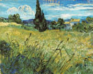 Green Wheatfield with Cypress 1889 - Vincent van Gogh