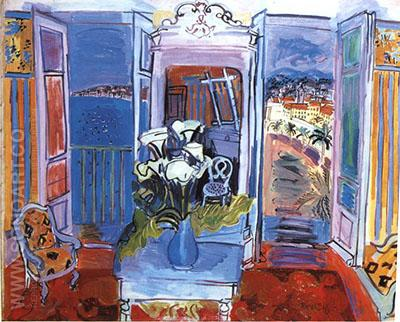 Interior with Open Window 1927 - Raoul Dufy reproduction oil painting