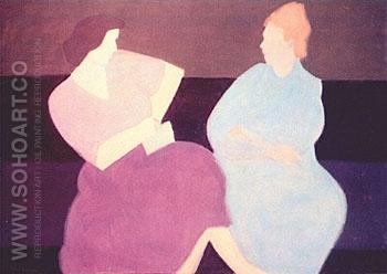 The Conversation 1956 - Milton Avery reproduction oil painting