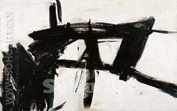 Vawdavich Rectangle - Franz Kline reproduction oil painting