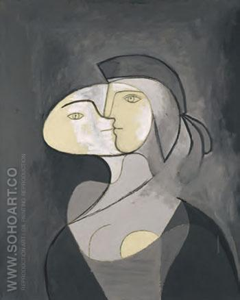 Marie-Therese  Face and Profile, 1831 - Pablo Picasso reproduction oil painting