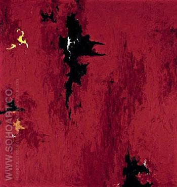 Untitled R No 1 1947 - Clyfford Still reproduction oil painting