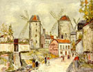Windmills of Montmartre - Maurice Utrillo reproduction oil painting