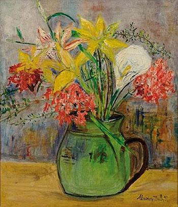 Fleurs dans une cruche c1936 - Maurice Utrillo reproduction oil painting
