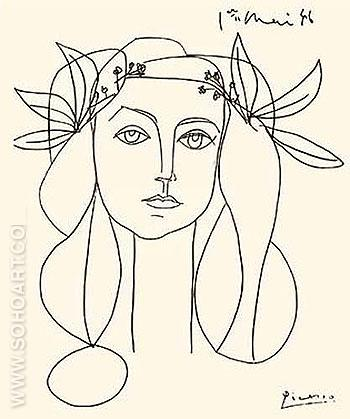 Head of a Woman - Pablo Picasso reproduction oil painting