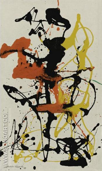 Number 26 1949 - Jackson Pollock reproduction oil painting