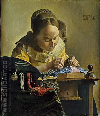 The Lacemaker (after Vermeer) 1955 - Salvador Dali reproduction oil painting