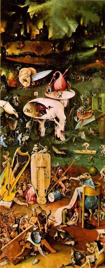 Right Wing Triptych - Hieronymus Bosch reproduction oil painting