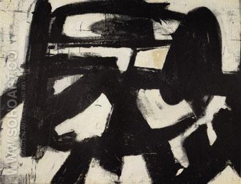 Ninth Street 1951 - Franz Kline reproduction oil painting