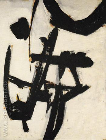 Abstraction C 1950 51 - Franz Kline reproduction oil painting