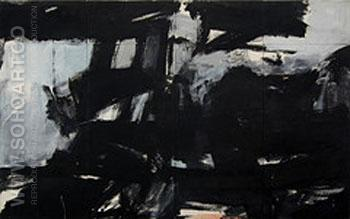 New Year Wall Night 1960 - Franz Kline reproduction oil painting