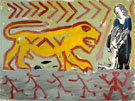Colosseum - A R Penck reproduction oil painting