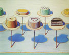 Shop Window Seven Cakes - Wayne Thiebaud reproduction oil painting