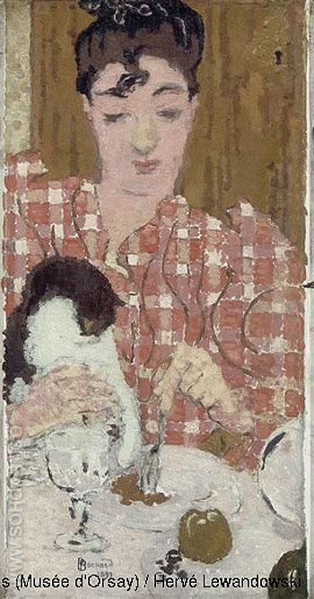 The Chequered Blouse 1892 - Pierre Bonnard reproduction oil painting