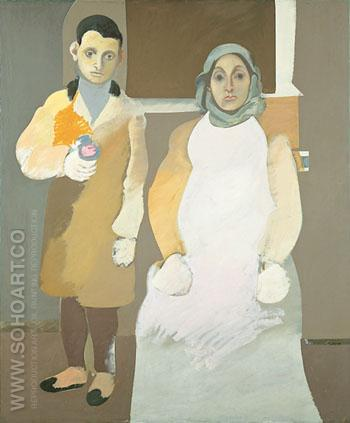 The Artist and his Mother - Arshile Gorky reproduction oil painting