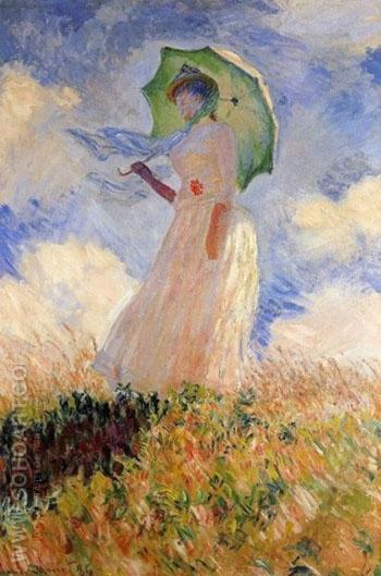 Woman with a Parasol 1886 - Claude Monet reproduction oil painting