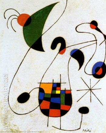 The Melancholic Singer - Joan Miro reproduction oil painting