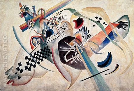 In White 1920 - Wassily Kandinsky reproduction oil painting