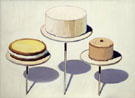 Cakes 1963 1 - Wayne Thiebaud reproduction oil painting