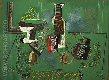 Green Still Life 1914 - Pablo Picasso reproduction oil painting