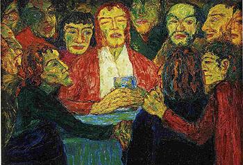 Last Supper 1909 - Emile Nolde reproduction oil painting