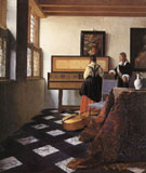 Lady at the Virginal with a Gentleman - Johannes Vermeer