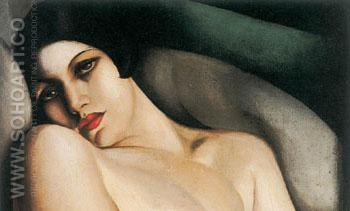 Sleep detail - Tamara de Lempicka reproduction oil painting