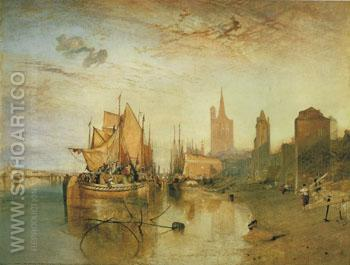 The Arrival of A Packet Boat Evening 1826 - Joseph Mallord William Turner reproduction oil painting