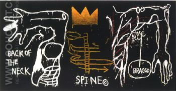 Back of the Neck - Jean-Michel-Basquiat reproduction oil painting