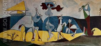 Joie de Vivre 1946 - Pablo Picasso reproduction oil painting
