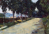 Park in St Cloud c1906 - Wassily Kandinsky reproduction oil painting