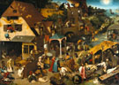 The Dutch Proverbs 1559 - Bruegel Pieter