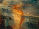The Burning of the Houses of Parliament 1835 - Joseph Mallord William Turner reproduction oil painting