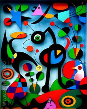 The Garden - Joan Miro reproduction oil painting