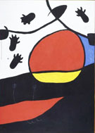 Paysage 1974 2 - Joan Miro reproduction oil painting