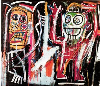 Dustheads c1982 - Jean-Michel-Basquiat reproduction oil painting