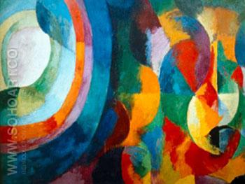 Simultaneous Contrasts Sun And Moon - Robert Delaunay reproduction oil painting