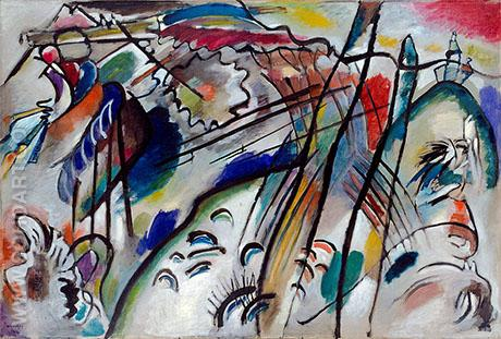 Improvisation 28 second version 1912 - Wassily Kandinsky reproduction oil painting