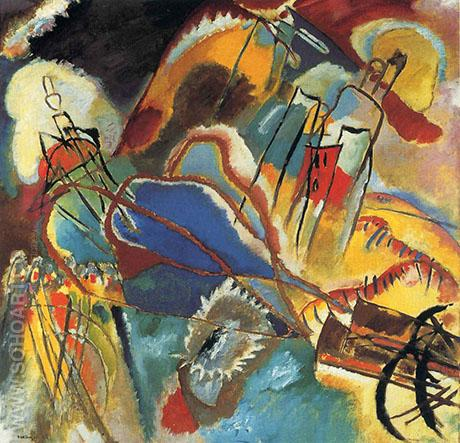 Improvisation 30 Cannons 1913 - Wassily Kandinsky reproduction oil painting