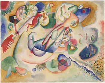 Improvisation 1914 - Wassily Kandinsky reproduction oil painting