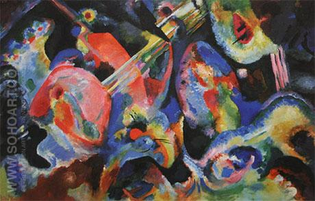 Improvisation Deluge 1913 - Wassily Kandinsky reproduction oil painting