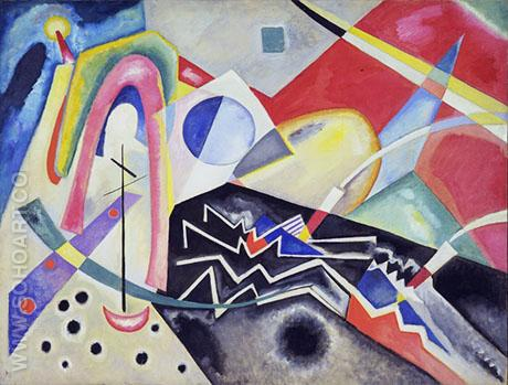 White Zig Zag 1922 - Wassily Kandinsky reproduction oil painting