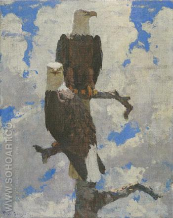 Two Eagles on a Branch 1930 - Frank Weston Benson reproduction oil painting