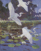 Herons and Lilies 1934 - Frank Weston Benson